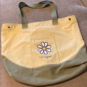 Life is Good Summer Beach Bag